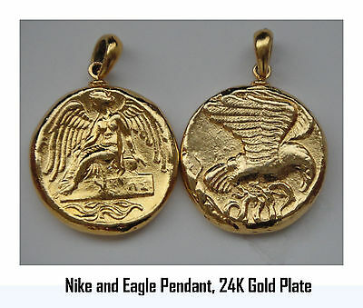 Nike, Goddess of Victory & Eagle, Pendant  9-G