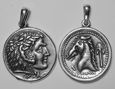 Alexander the Great & Horse, King of Macedonia, Son of Phillip II, Pendant 46-S