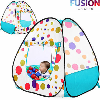 Pop Up Childrens Kids Baby Play Tent Playhouse Spotty Indoor Outdoor Ball Pit