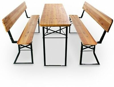Wooden Picnic Table Bench Garden Patio Folding Seating Seater Outdoor Dining BBQ