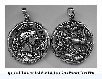 Percy Jackson Necklace,APOLLO & Charioteer,God of the Sun,Pendant,27-S