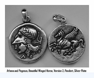 Percy Jackson Necklace, ATHENA and Pegasus, Annabetth's Mother, Pendant 43-S • CAD $16.52
