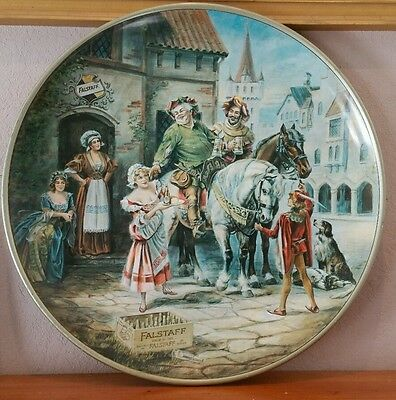 Extremely Rare Vintage 1971 Falstaff Brewing 24 Inch Round Tin Sign Advertising