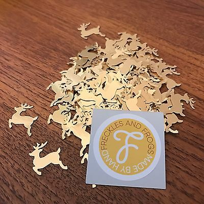 Reindeer TABLE CONFETTI Gold Christmas Table Decorations Wedding Festive