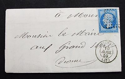 France Cover Vienne 1859 Frankreich Brief (G-7701
