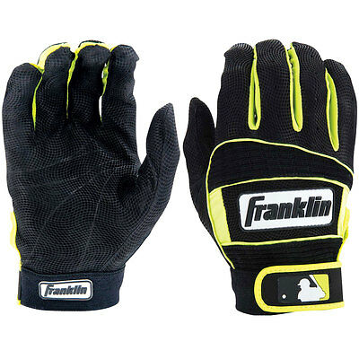 Franklin Neo Classic II Adult Baseball Batting Gloves - Black/Optic Yellow - XL