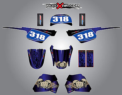 Full Custom Graphic Kit Yamaha PW 50 pee wee- All years REAPER decals/stickers