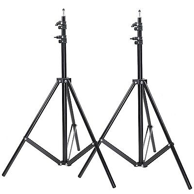 Neewer Two Aluminum Photo/Video Tripod Light Stands For Studio Kits Lights So...