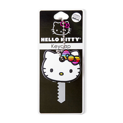 Sanrio Hello Kitty Keycap Rainbow Bow Key Cap Keychain Key Cover NWT