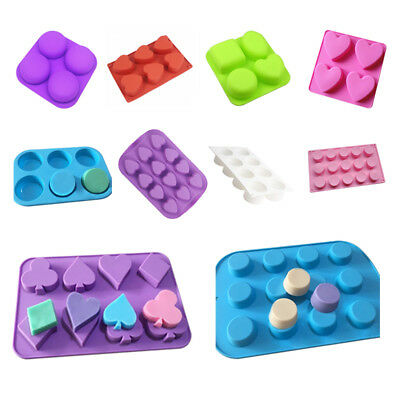 New Silicone Cake Soap Candle Mould Chocolate Cookies Baking Tray DIY Tool