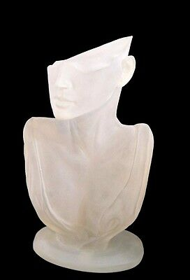 White Glass Mannequin Head  Display Stand