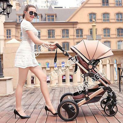 SUNDELY Baby Carriage Foldable Travel System Stroller Buggy Pushchair Pram New