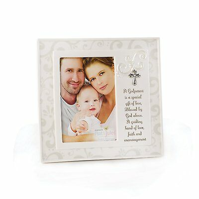 "Nat and Jules Frame, Godparent Holds a 4"" x 6"" Vertical Photo Fantastic Gift"