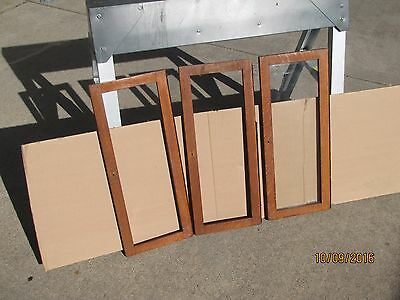 Three original RARE 3/4 size Globe Wernicke Sectional Bookcase Doors