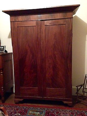 Flame Mahogany Empire Armoire