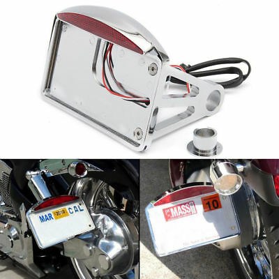 Chrome  Side Mount License Plate Tail Light 4 Suzuki Marauder VZ 800 1600