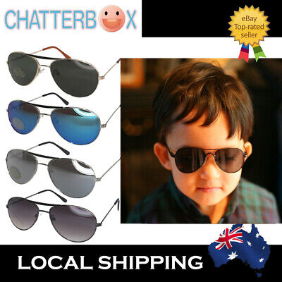 Kid Boys Boy Girls Aviator Sunglasses Cute Mirrored Reflective Lens Eyewear
