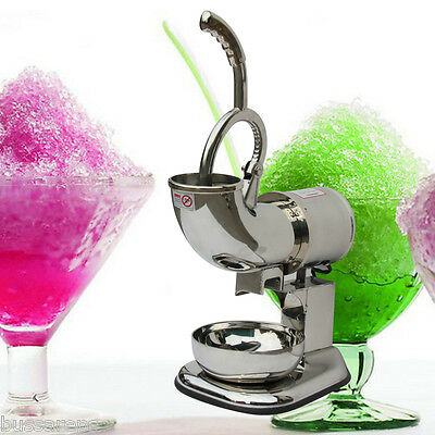 440 lbs 200W Ice Shaver Sno Snow Cone Maker Shaved Icee Electric Crusher2000 run