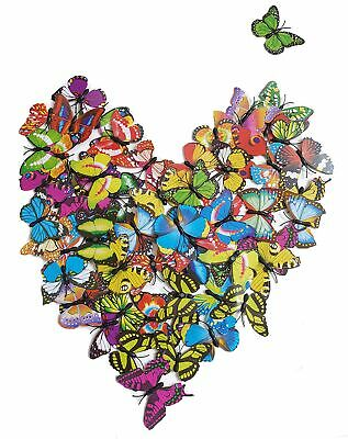 100pcs Multi-color Artificial Butterflies 3D Magnet Festivals Wedding Decoration