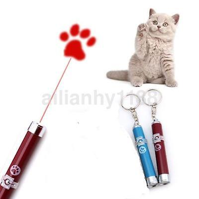 1X Cat Dog Pet Toy LED Laser Pointer light Pen+Bright Cute Paw Play Projector CA