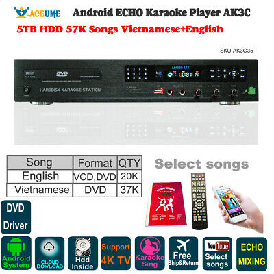 Android Cloud All-in-one Karaoke Jukebox,5TB,53K Vietnamese+English+Chinese