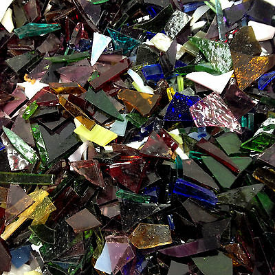 Various Stained Glass Mosaic Multi Color Pieces Weight 1.797 gram & Grout