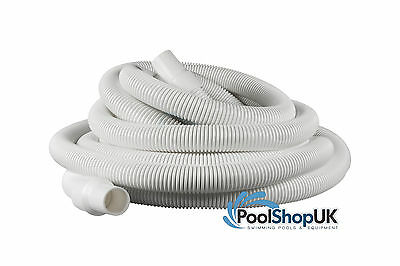 6m Swivel Cuff Vacuum Hose White 38mm Diameter