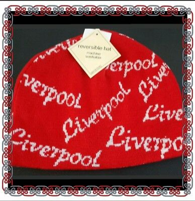 Liverpool Reversible Red and White Ski Style Hat - Ideal Gift Idea