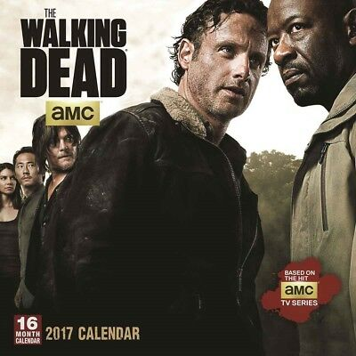 The Walking Dead Official 2017 Calendar Square Wall New and Sealed