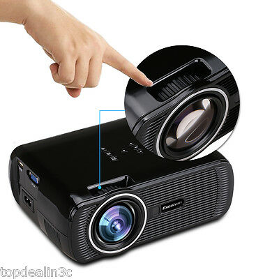 EXCELVAN 1080P HOME THEATER MULTIMEDIA 2000 Lumens USB HDMI 3D LED LCD PROJECTOR