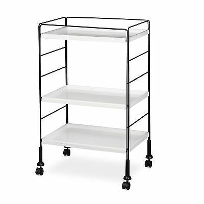 Rolling Cart Multi-Purpose Serving Trolley Kitchen Cart 3 Shelves Transport Roll