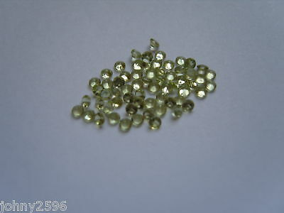 2mm round cut natural peridot gemstones size 4 for £1.35p.