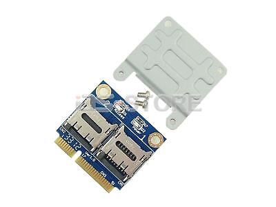 Dual TF Micro SD SDHC SDXC SSD HDD to Half Mini PCI-e Memory Card reader adapter