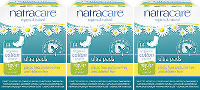 Natracare Organic Sanitary Towels Ultra Pads, Winged Liners Long x 3