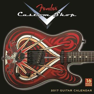 Fender Custom Shop Guitar Official Wall Calendar 2017