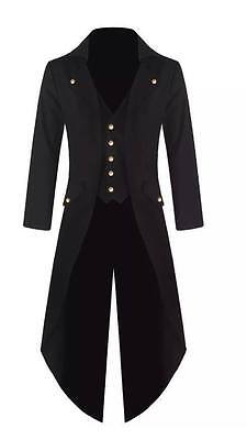 Handmade Mens Steam punk Tailcoat Jacket Gothic Victorian Coat