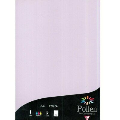 Clairefontaine Pollen 50 feuilles lilas  210 x 297 mm 120 gr