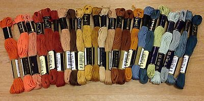 Anchor Soft Embroidery Thread 10m skein floss stranded cotton x6 various colours