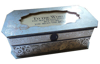 Vintage Design Friends + Family Mean The World To Me Musical Jewellery Box Gift