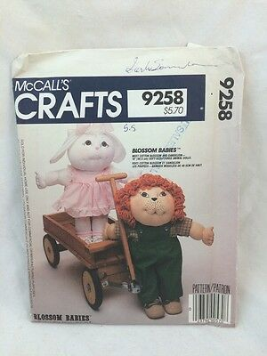 UNCUT Vintage Sewing Pattern McCall's BLOSSOM BABIES 9258