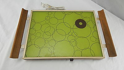 Vintage Cornwall Electric Warming Tray ATOMIC GREEN 1970s Mid Century Hot Plate