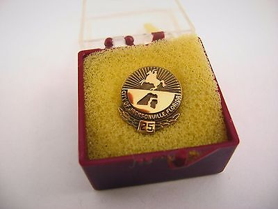 High Quality Vintage Collectible Pin: City of Jacksonville Florida 25 Years
