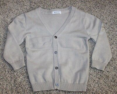 3 Pommes Infant Baby Boy Fancy Holiday Tan Sweater Size 12 18 M