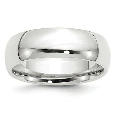 Solid 14k White Gold Comfort Fit Wedding Band Ring Mens Womens Sizes 4 to 14