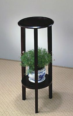 Coaster 900936 Plant Stand With Round Top, Cappuccino New