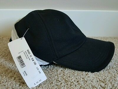 Lacoste Sport cap black white polyester adjustable tennis hat one size