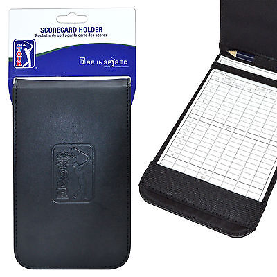 PGA TOUR Golf Scorecard Holder Black  **BEST PRICE**