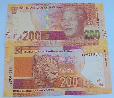 South Africa - 200 Rand 2015 UNC Lemberg-Zp