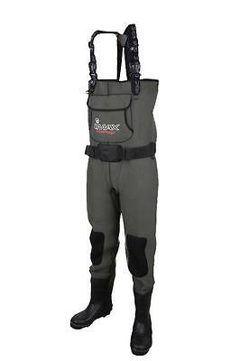 IMAX Challenge Neoprene Chest Waders Cleated & Studded Sole - All Sizes NEW 2017