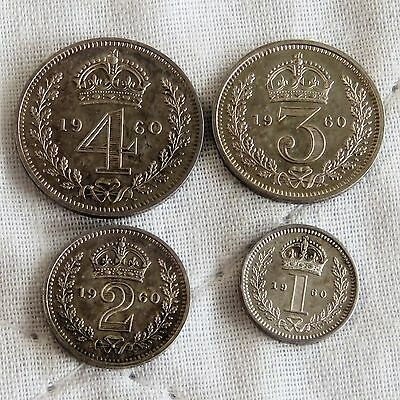 1960 QEII SILVER 4 COIN MAUNDY SET - mintage 1112 - 56th birthday